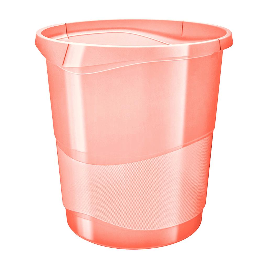 Esselte Colour'Ice Odpadkový kôš, 14l., broskyňová