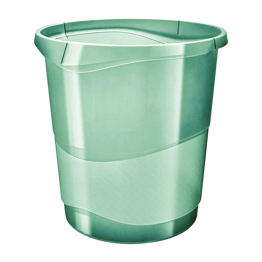 Esselte Colour'Ice Odpadkový kôš, 14l., zelená