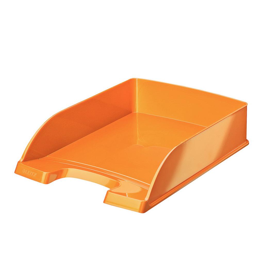 Leitz WOW Zásuvka stolová Plus, metalická oranžová