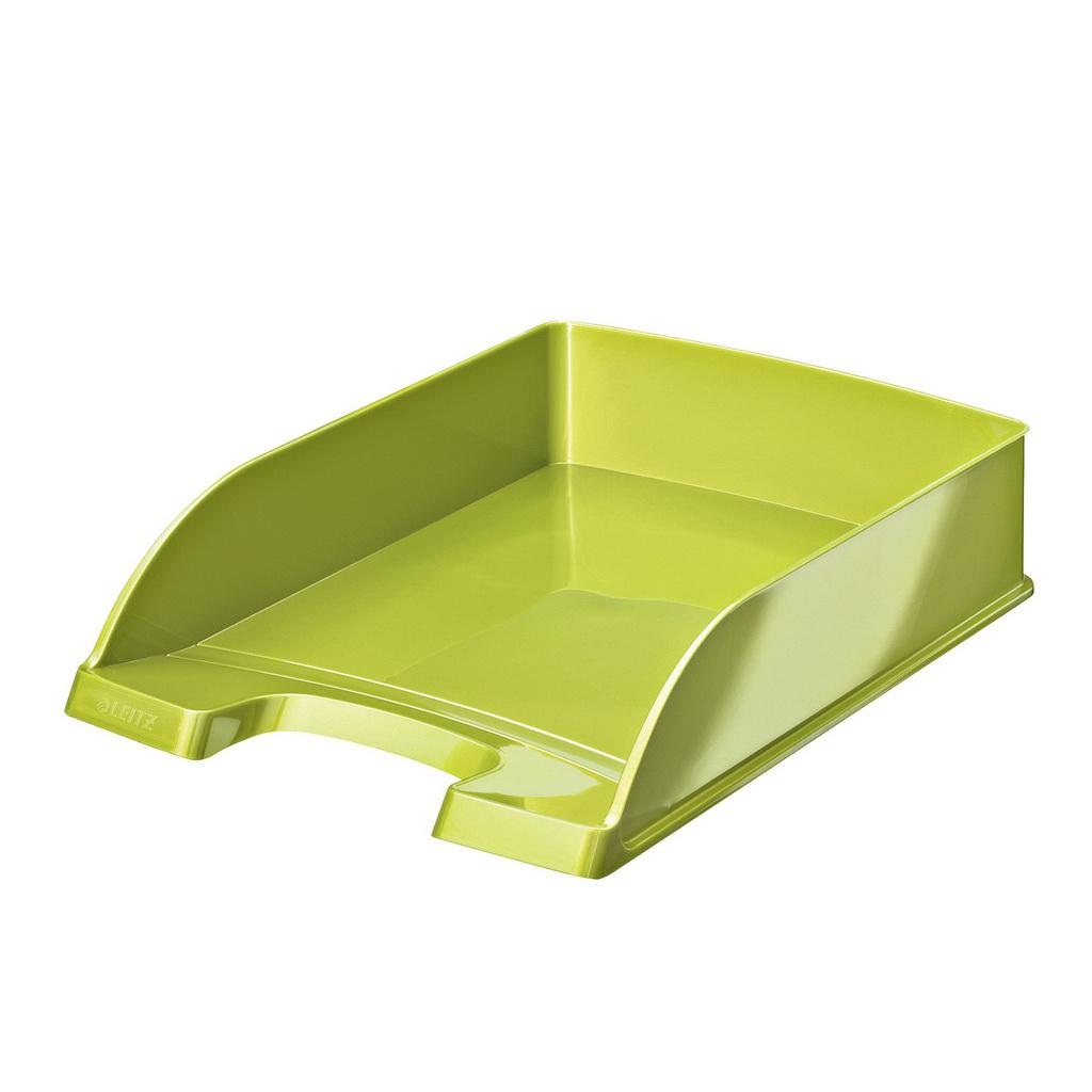Leitz WOW Zásuvka stolová Plus, metalická zelená