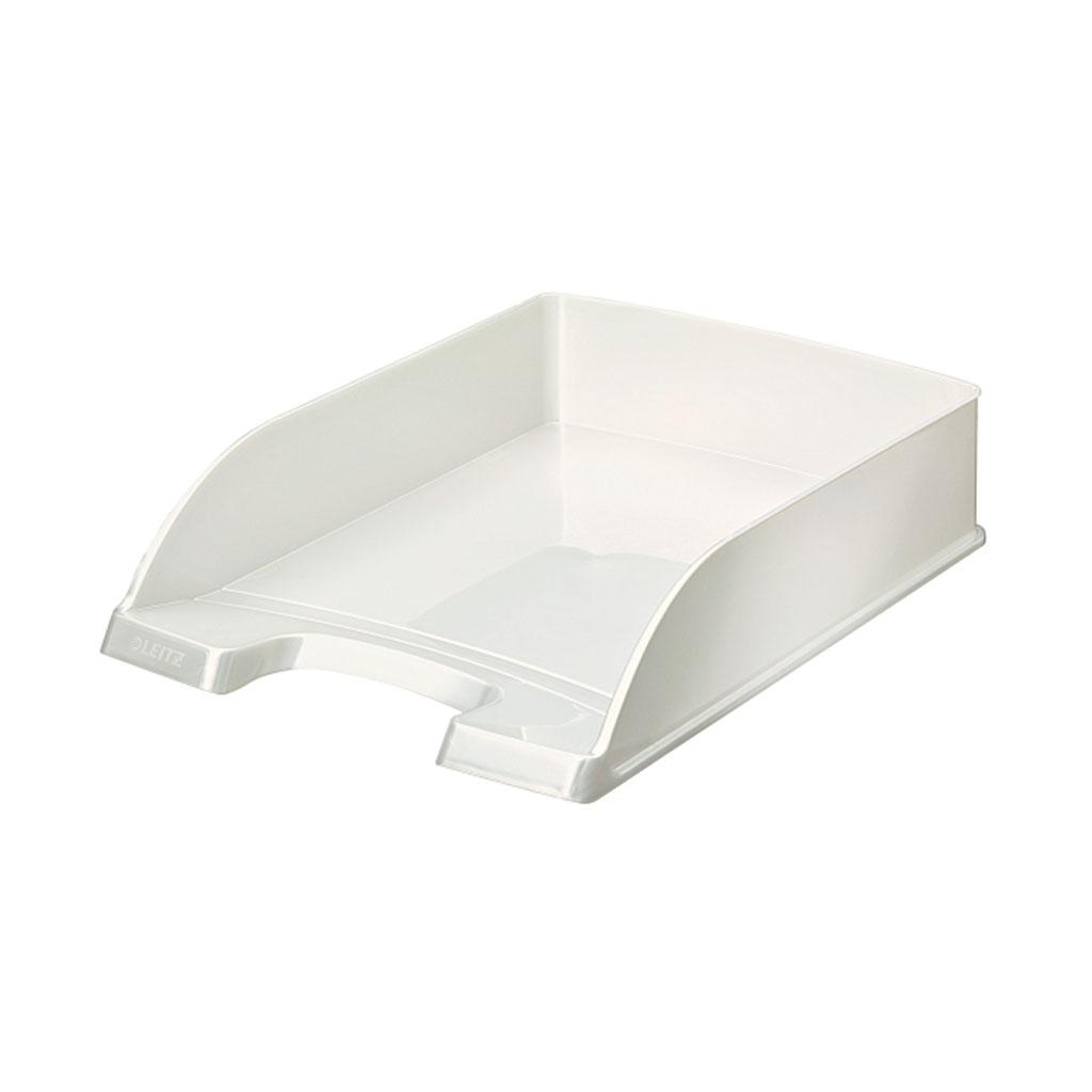 Leitz WOW Zásuvka stolová Plus, metalická biela