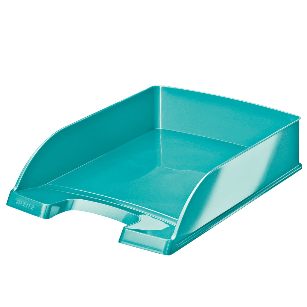 Leitz WOW Zásuvka stolová Plus, metalická tyrkysová