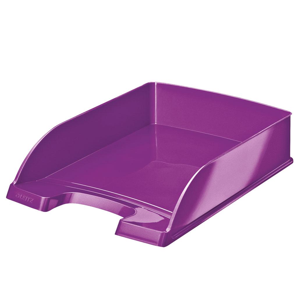 Leitz WOW Zásuvka stolová Plus, metalická fialová