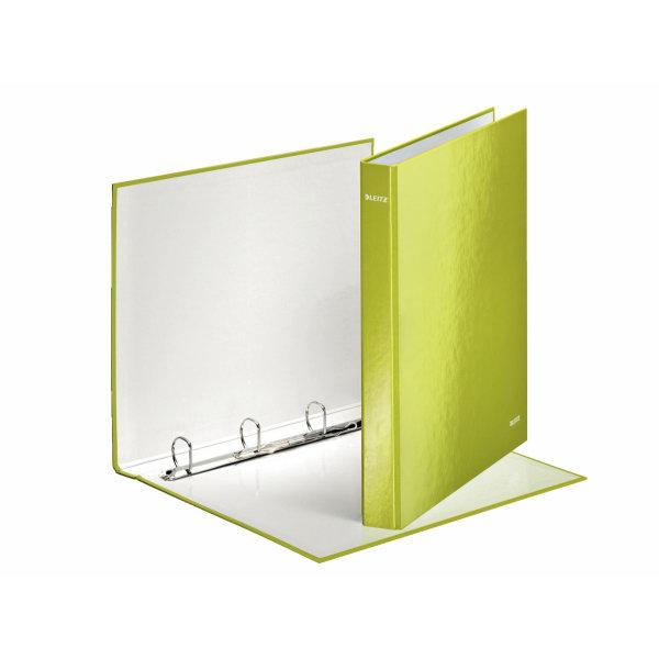 Leitz WOW Karisblok 4-krúž., A4, 4 cm, lamino, zelený