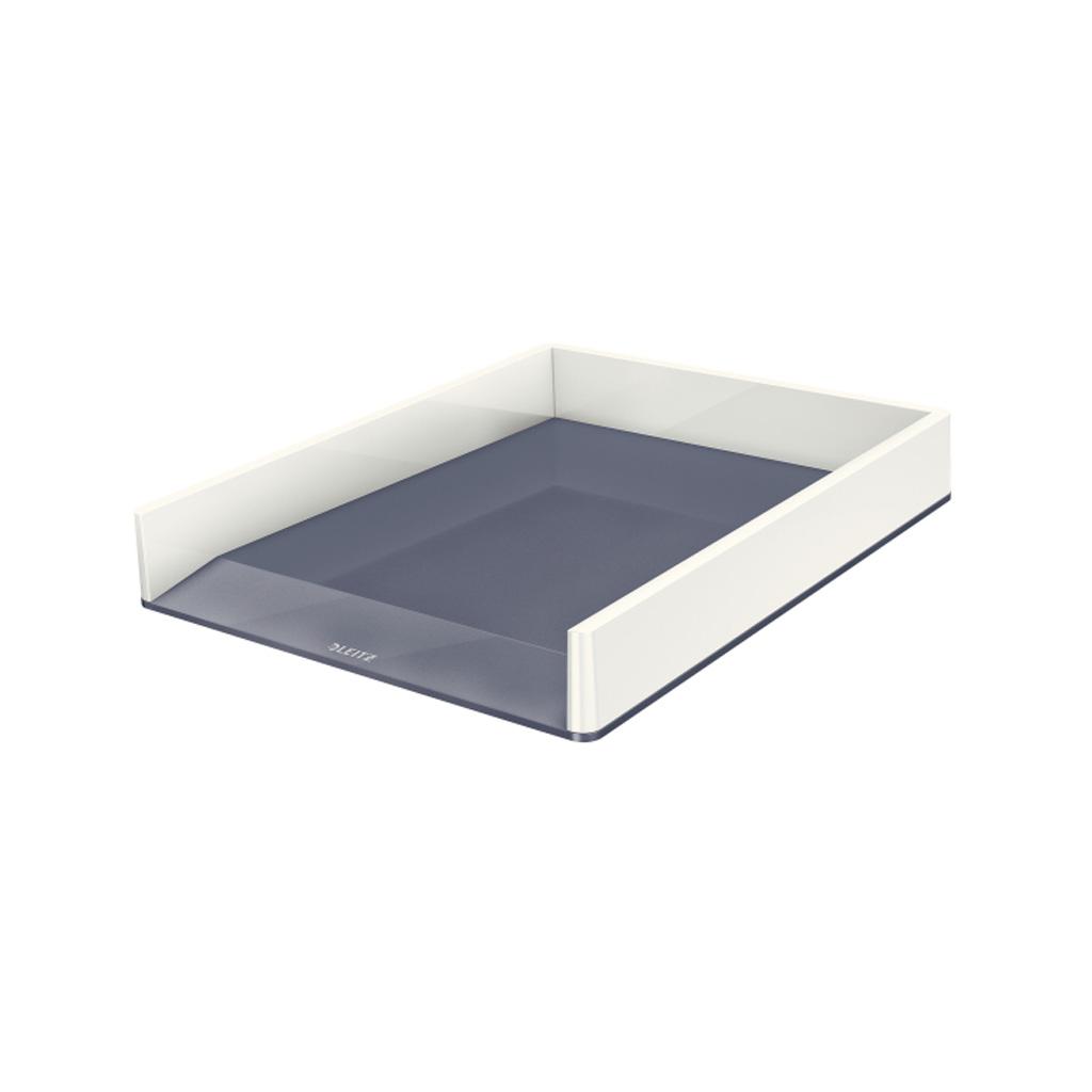 Leitz WOW Zásuvka stolová dvojfarebná, šedá
