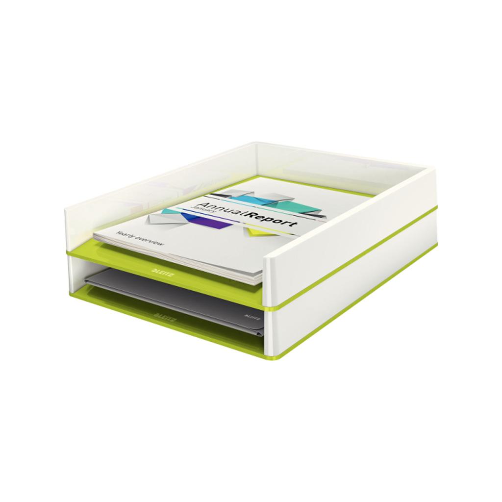 Leitz WOW Zásuvka stolová dvojfarebná, metalická zelená