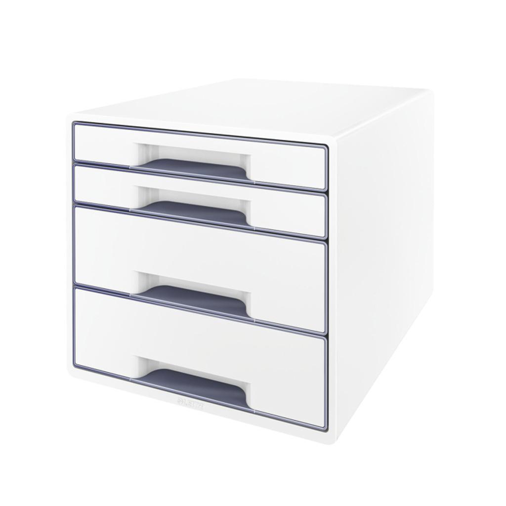 Leitz WOW Box so 4 zásuvkami, šedá