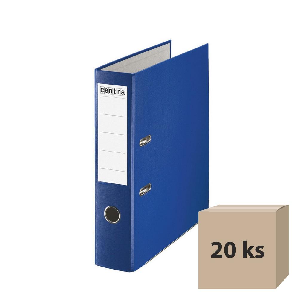 Zakladač pákový A4 7,5 cm PP - modrá, 20 ks