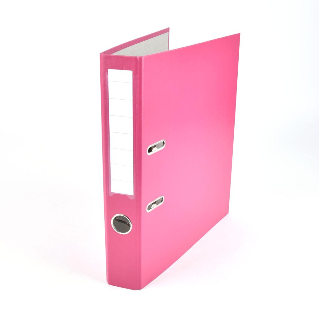 Zakladač pákový A4 5 cm PP, ružová