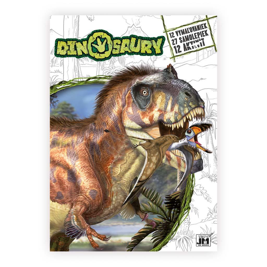 Dinosaury omaľovanky A4+