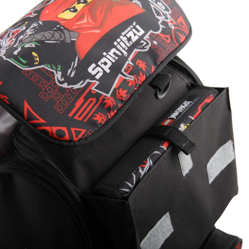 Školská taška - LEGO NINJAGO Team Ninja, Optimo, sada s taštičkou na prezuvky