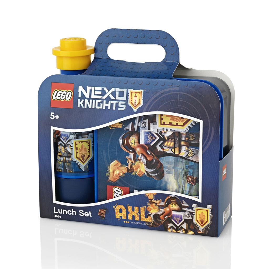 Desiatový set - desiatový box+fľaša na pitie LEGO NEXO KNIGHTS, modrý
