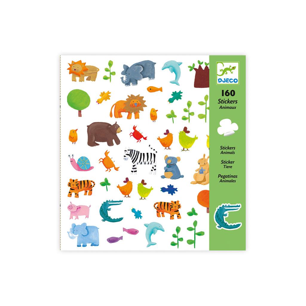 Djeco Nálepky Zvieratká, 160 ks
