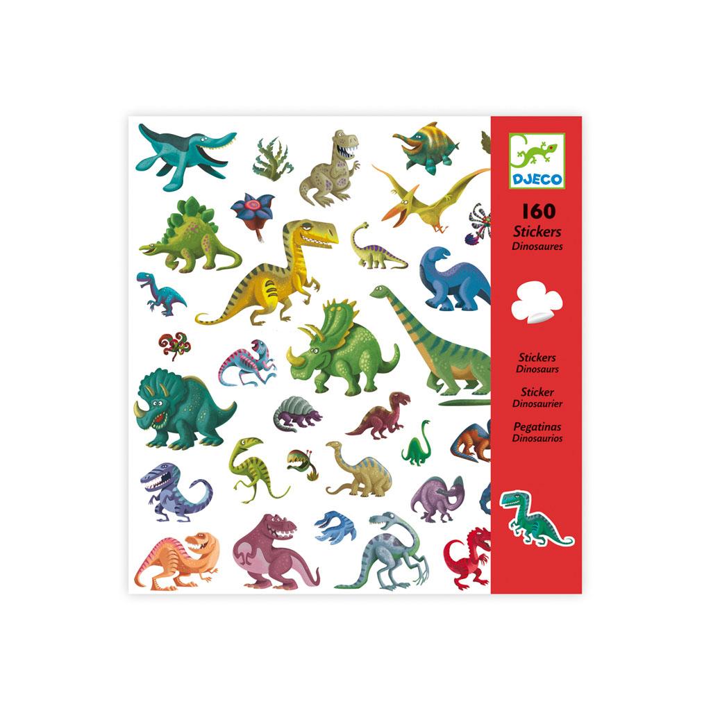 Djeco Nálepky Dinosaury, 160 ks