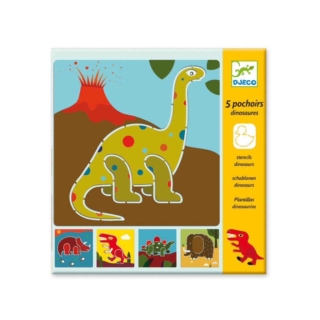 Djeco Kreslenie podľa šablóny Dinosaury