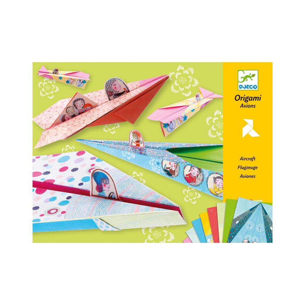Djeco Tvorivá sada Origami lietadlá pre dievčatá