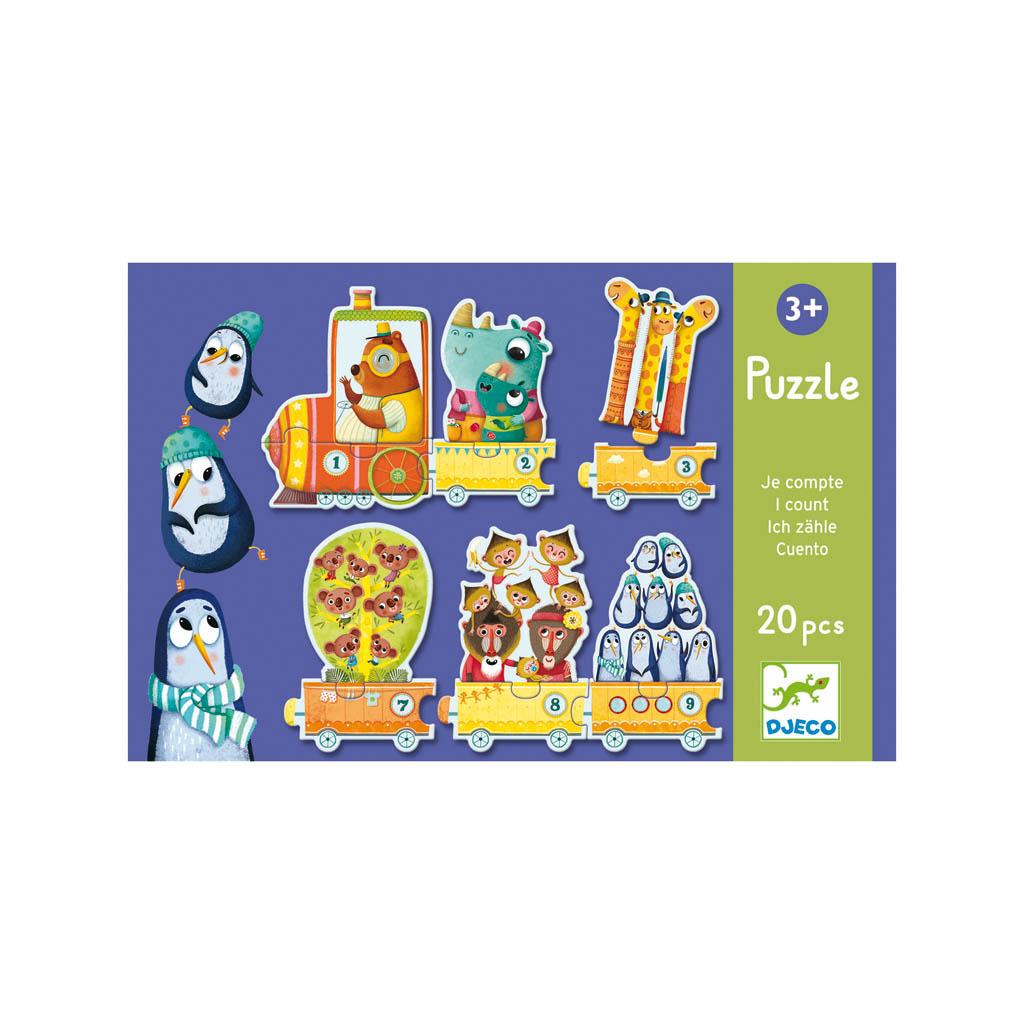 Djeco Puzzle, Počítaj, 20 ks
