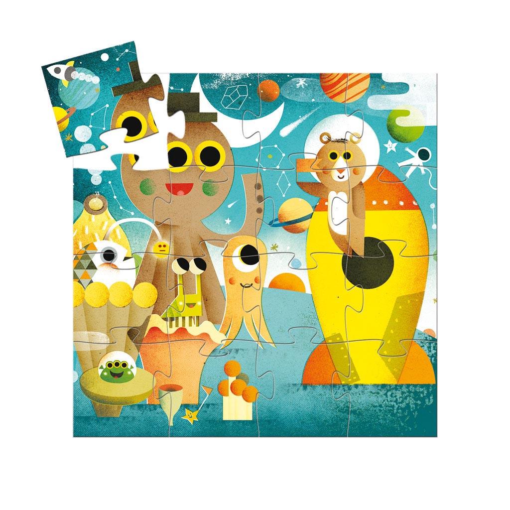 Djeco Puzzle, Silhouette, Raketa, 16 ks