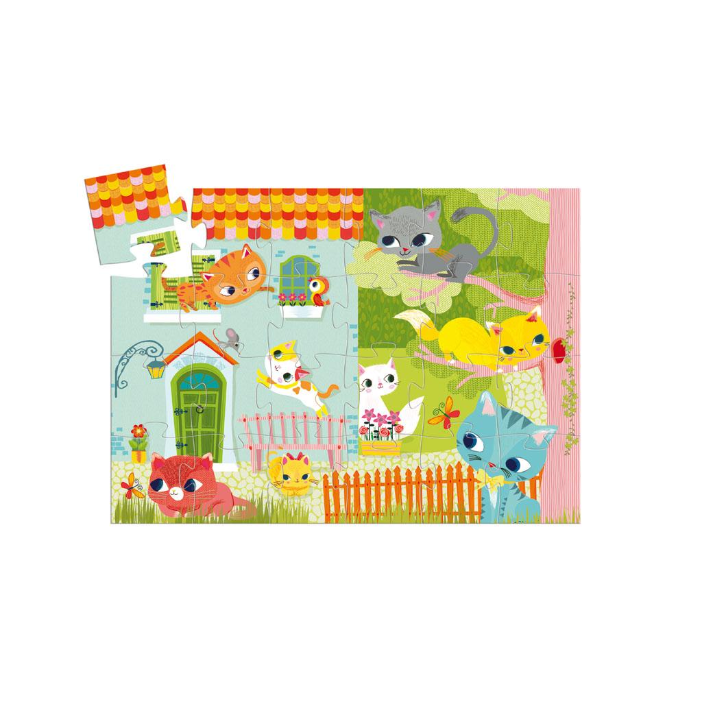 Djeco Puzzle, Silhouette, Kocúrik a kamaráti, 24 ks