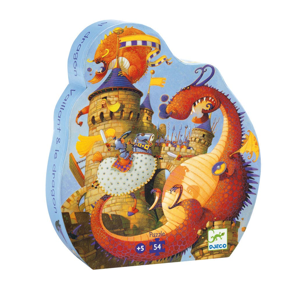 Djeco Puzzle, Silhouette, Vaillant a drak, 54 ks