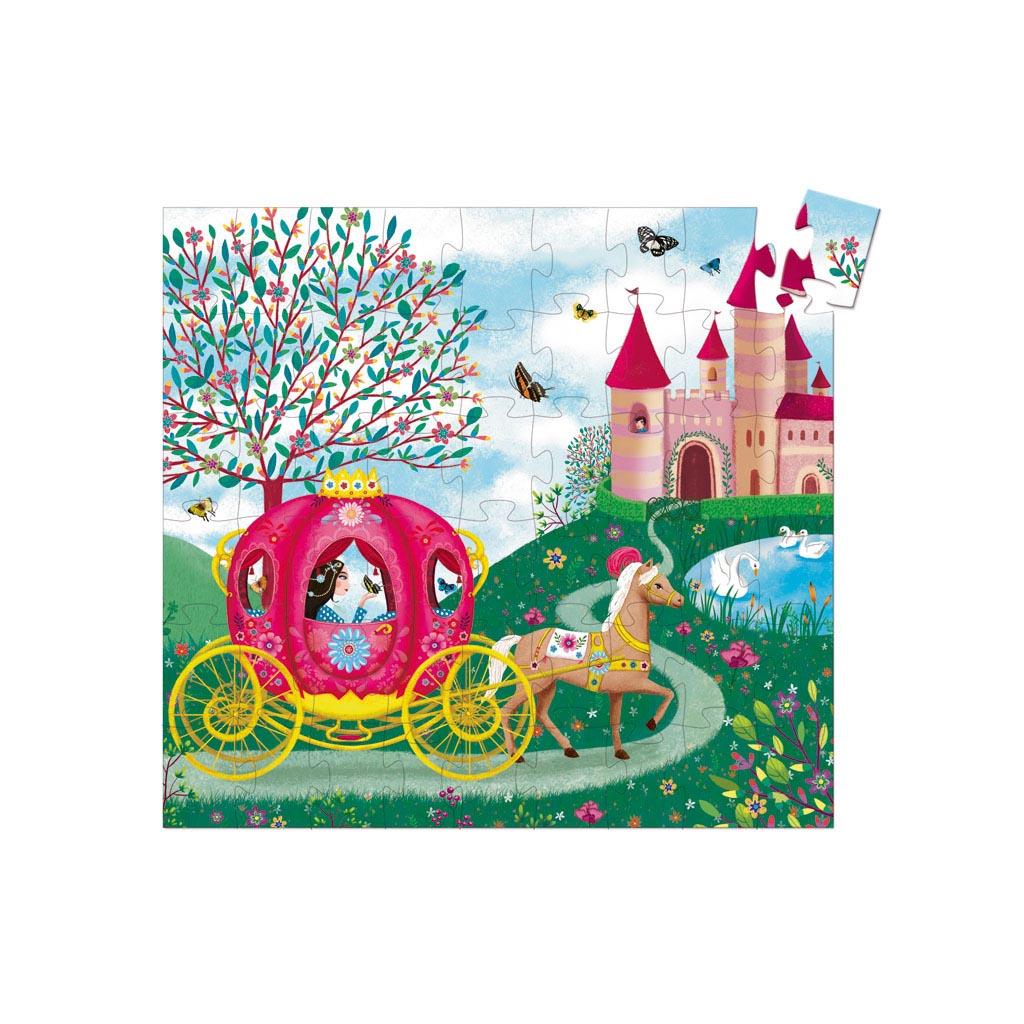 Djeco Puzzle, Silhouette, Koč princeznej Elisy, 54 ks
