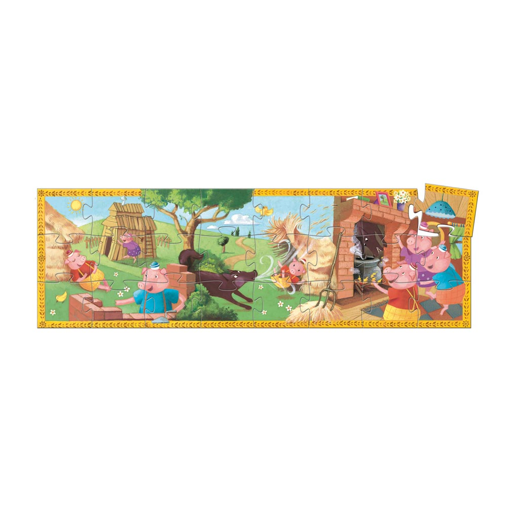 Djeco Puzzle, Silhouette, Tri prasiatka, 24 ks