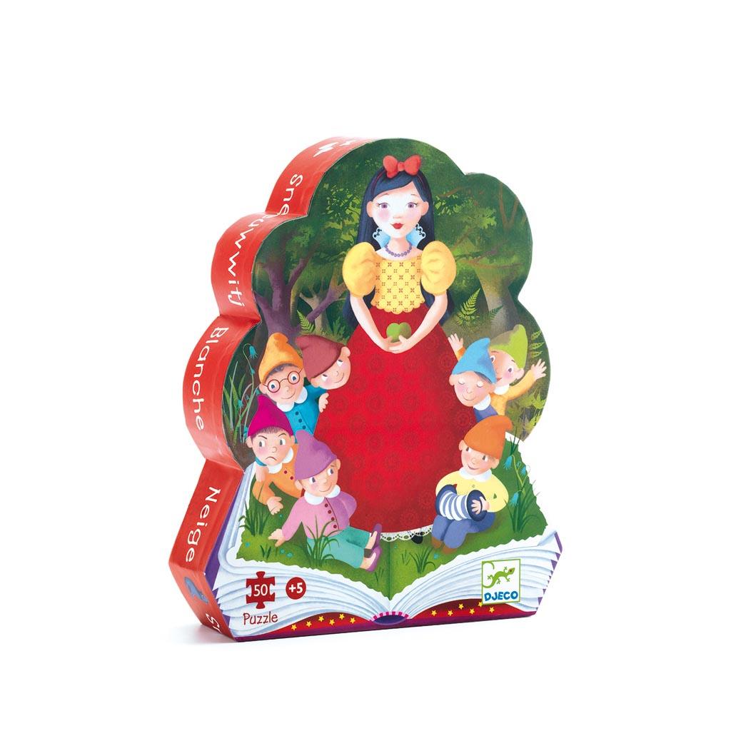 Djeco Puzzle, Silhouette, Snehulienka a sedem trpaslíkov, 50 ks