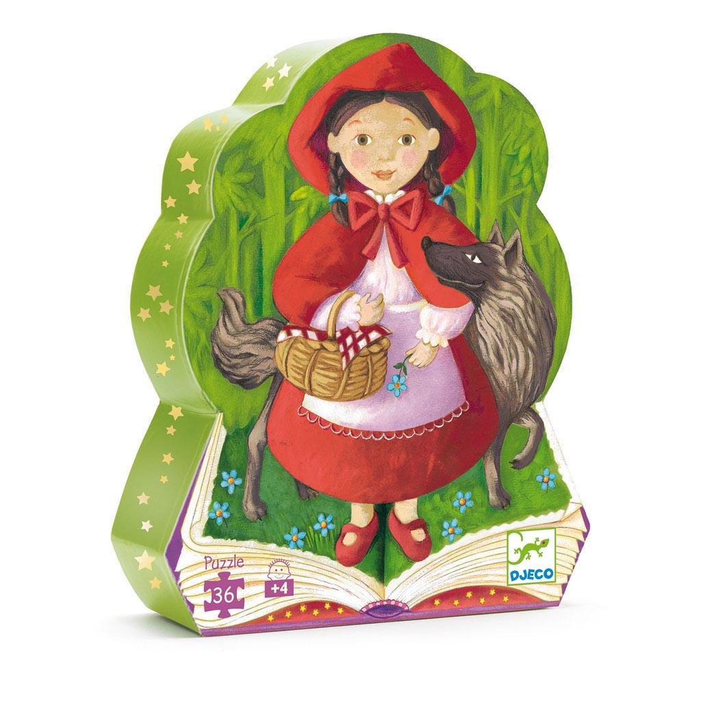 Djeco Puzzle, Silhouette, Červená čiapočka, 36 ks