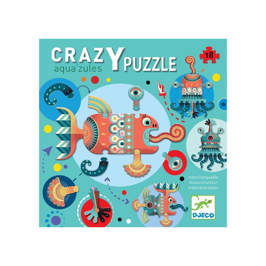 Djeco Puzzle Giant, Crazy, Aqua's zules