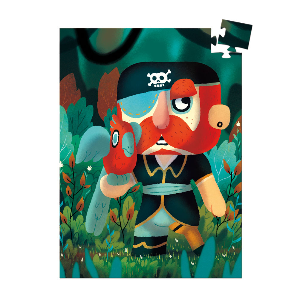 Djeco Mini Puzzle Pirát Sam Parrot