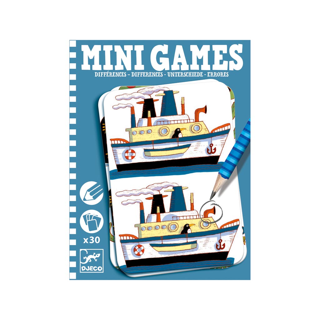 Djeco Mini Games Nájdi rozdiely pre chlapcov