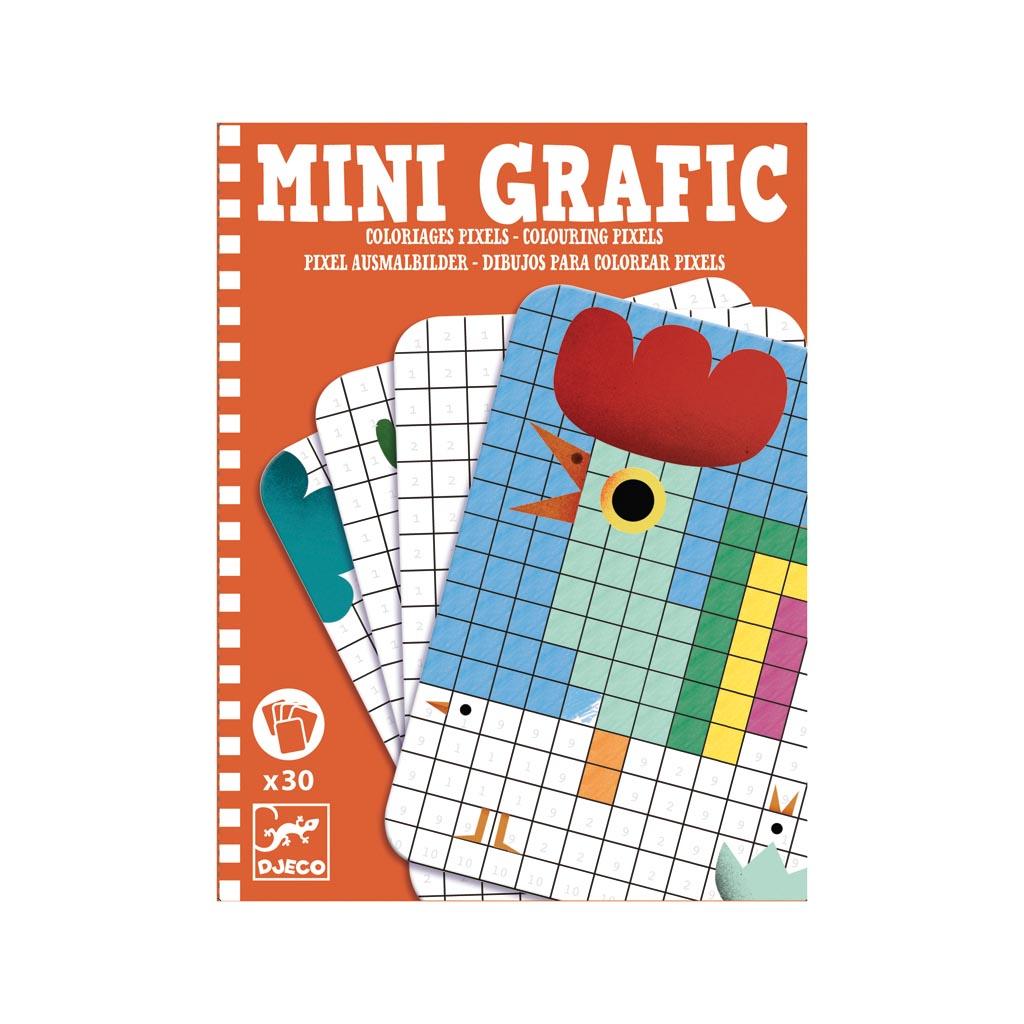 Djeco Mini Grafic Vyfarbuj štvorčeky