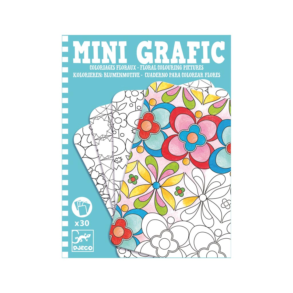 Djeco Mini Grafic Vyfarbuj kvety