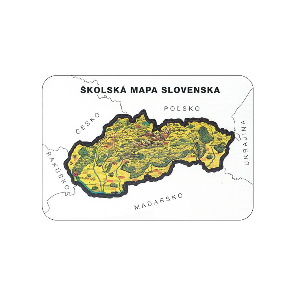 Šablóna slepá mapa SR, geografická, 26x18 cm