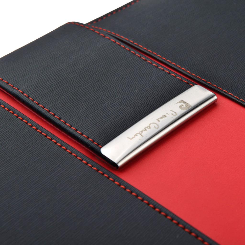 Portfólio so zapínaním Pierre Cardin Charente, farba čierno-červená
