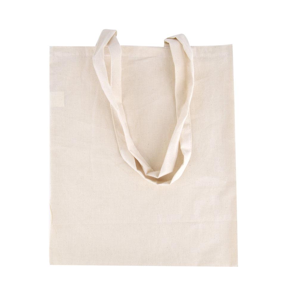 Nákupná bavlnená taška s dlhými ušami, béžová