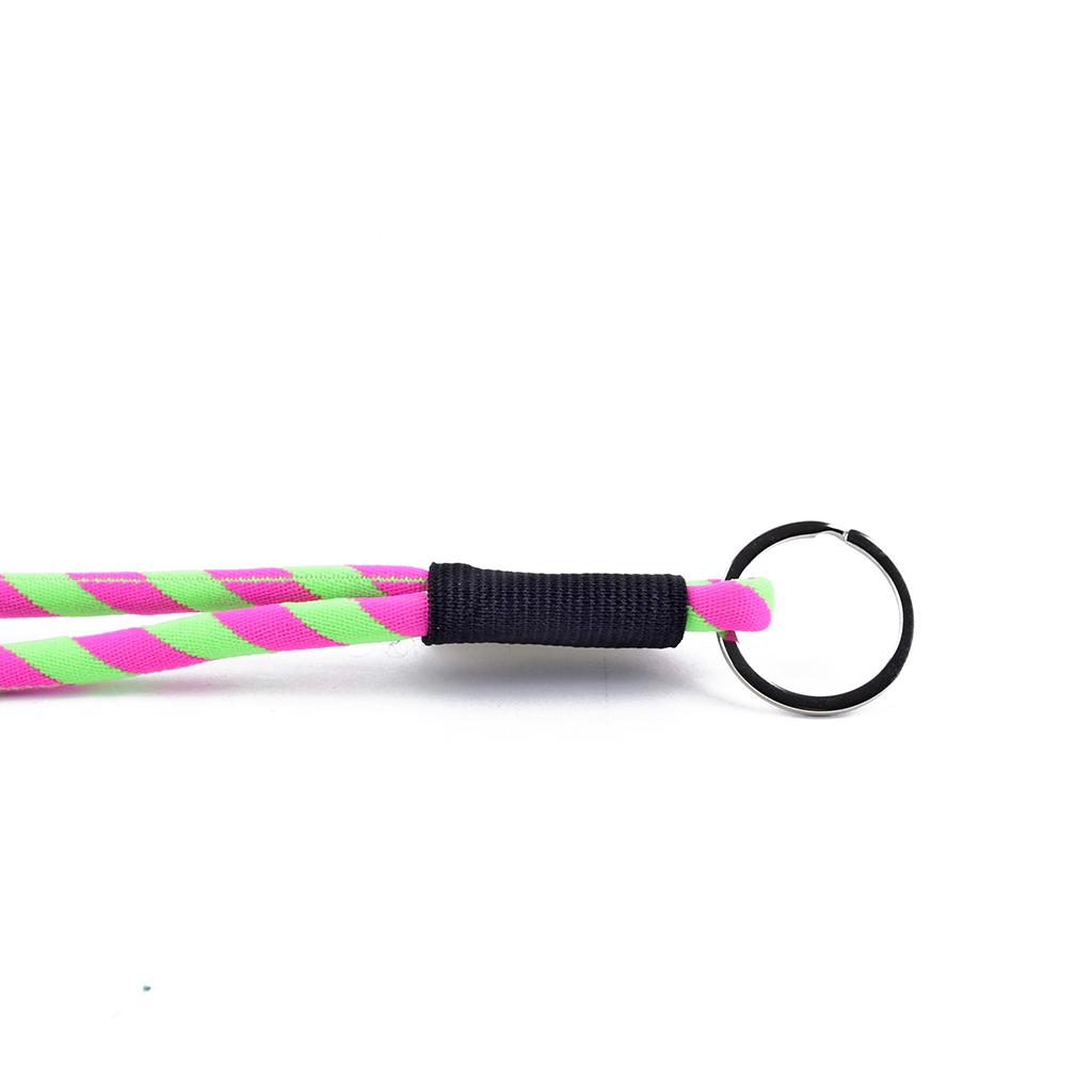 Šnúrka na krk s krúžkom, ružovo-zelená