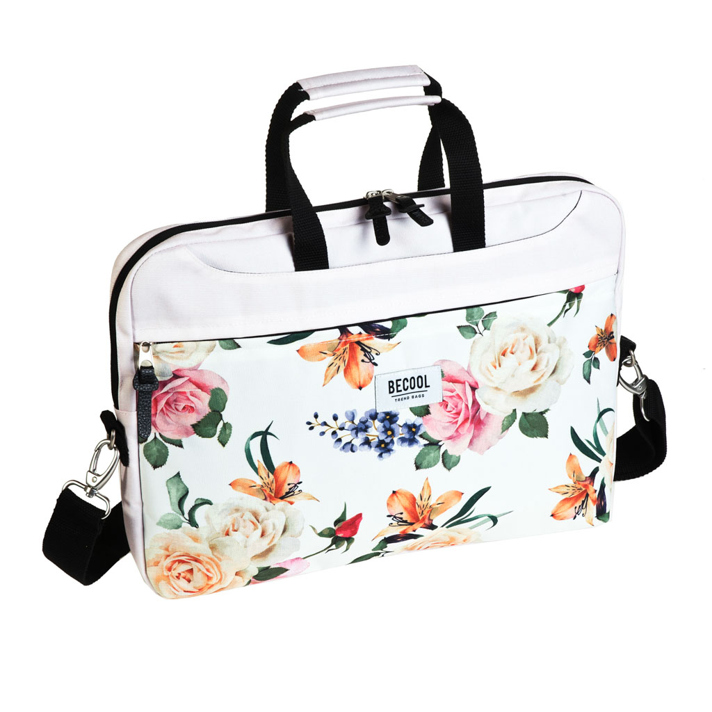 Taška na notebook Busquets, 41x30x6cm, BECOOL Roses