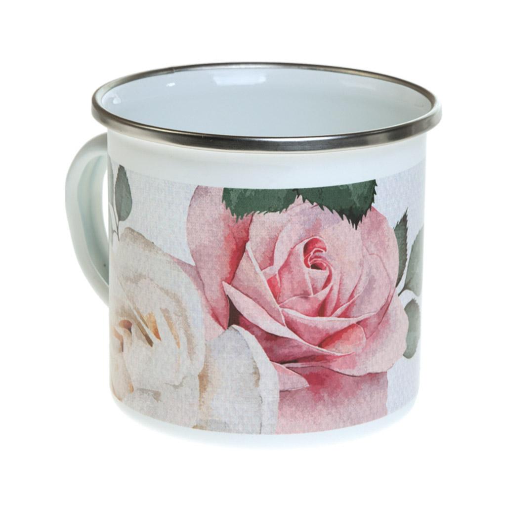 Smaltovaný hrnček Busquets, BECOOL Roses, 220 ml
