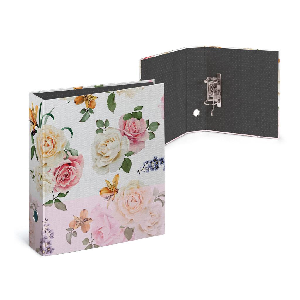 Zakladač pákový Busquets, A4 7,7 cm, lamino, BECOOL Roses