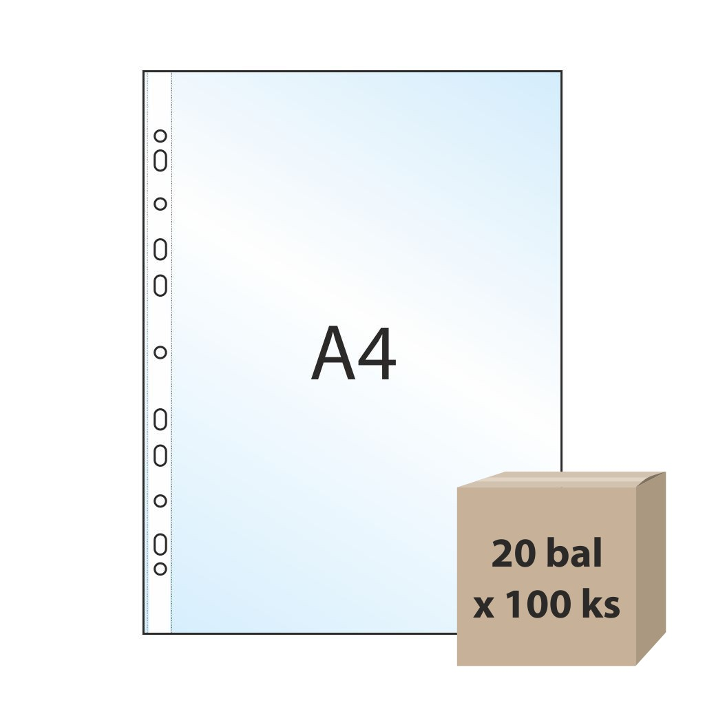 Euroobal A4 rastrovaný, 40 mic, 20 bal x 100 ks