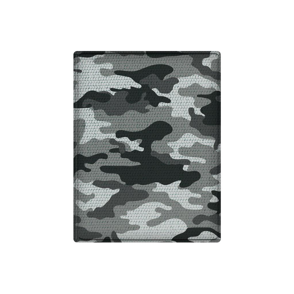Obal na doklady, 10 x 13 cm, PVC, lesklý, sivé army