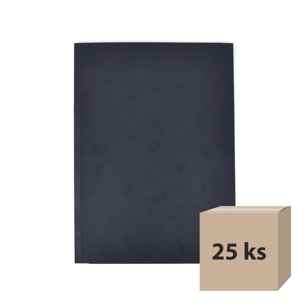 Odkladacia mapa OM 3 prešpán - čierna, 25 ks