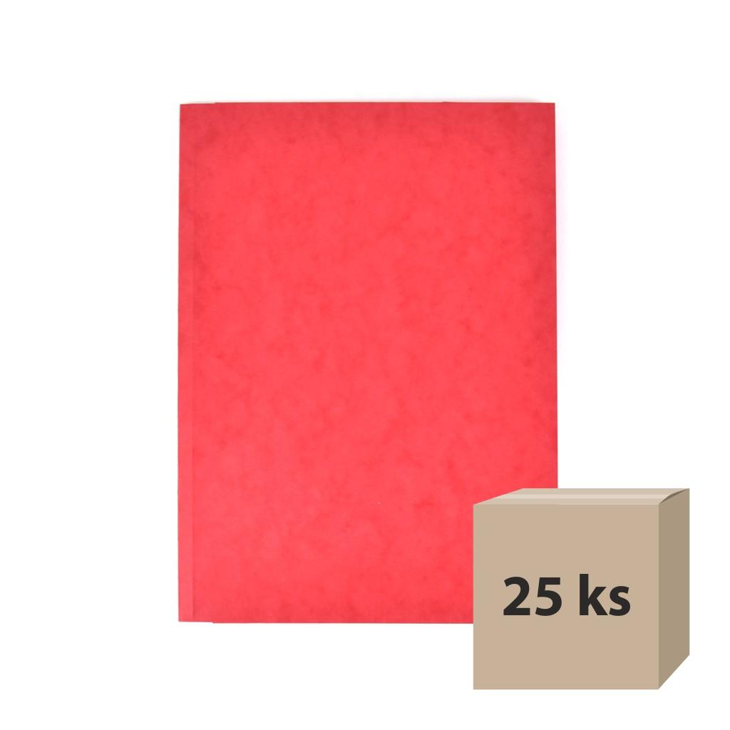 Odkladacia mapa OM 3 prešpán - červená, 25 ks