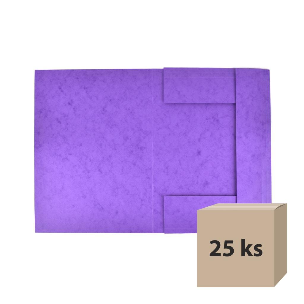 Odkladacia mapa OM 3 prešpán - fialová, 25 ks
