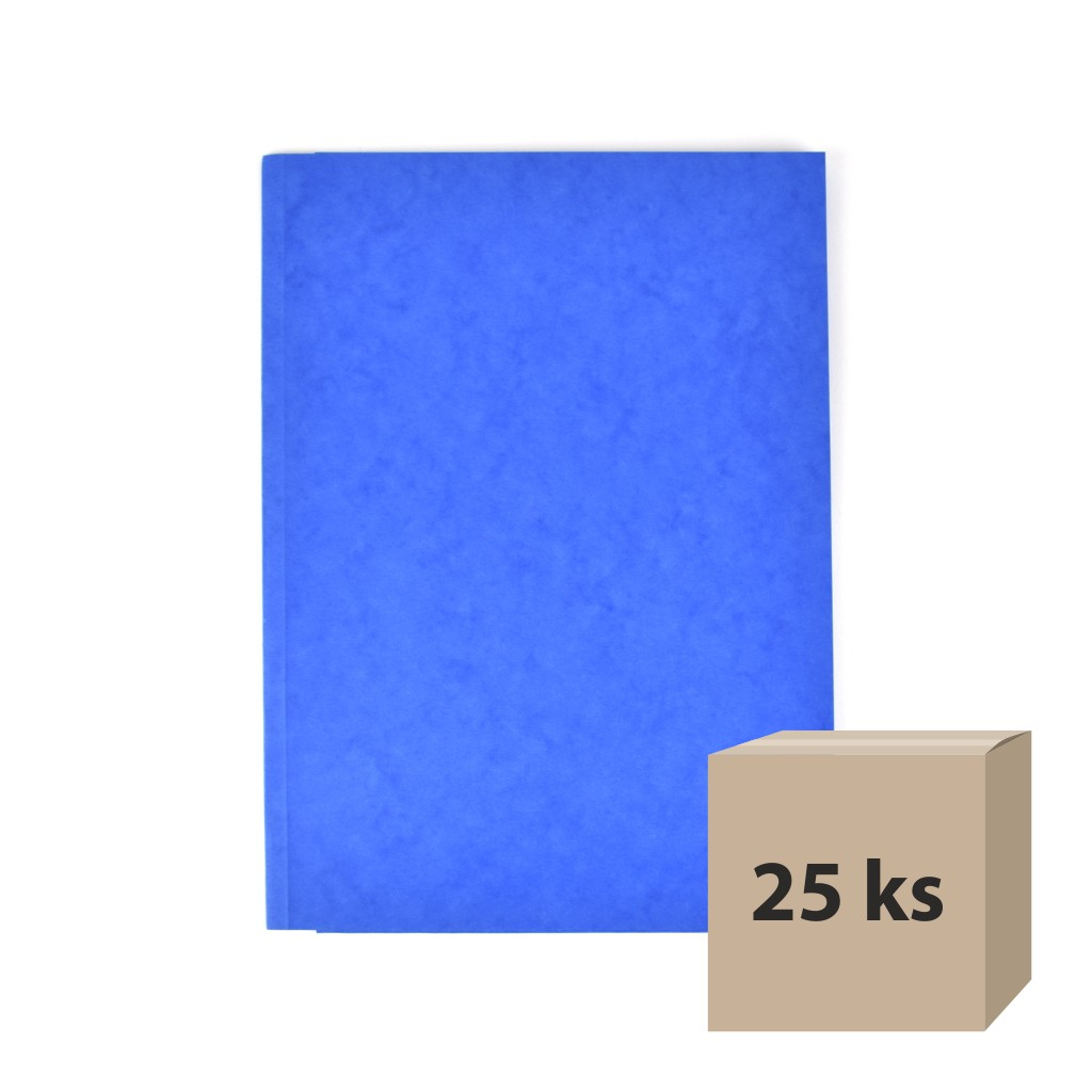 Odkladacia mapa OM 3 prešpán - modrá, 25 ks