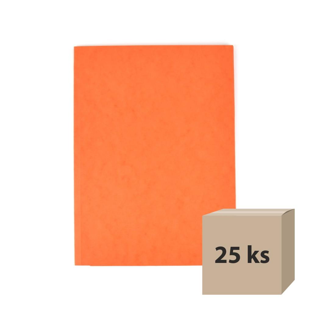 Odkladacia mapa OM 3 prešpán - oranžová 25 ks