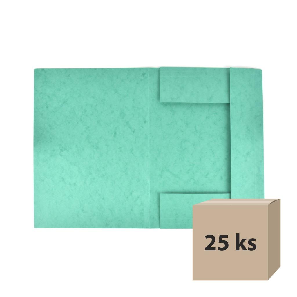 Odkladacia mapa OM 3 prešpán - zelená, 25 ks