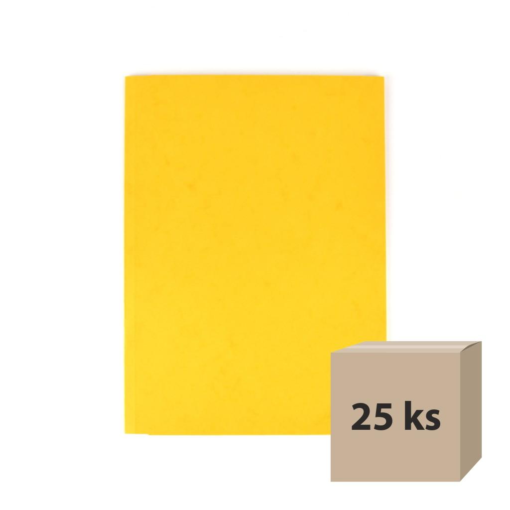 Odkladacia mapa OM 3 prešpán - žltá, 25 ks