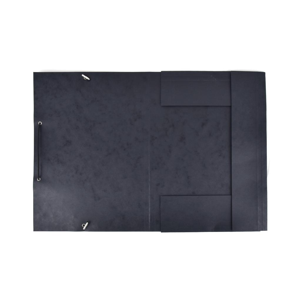 Odkladacia mapa OM 3 prešpán s gumou - čierna